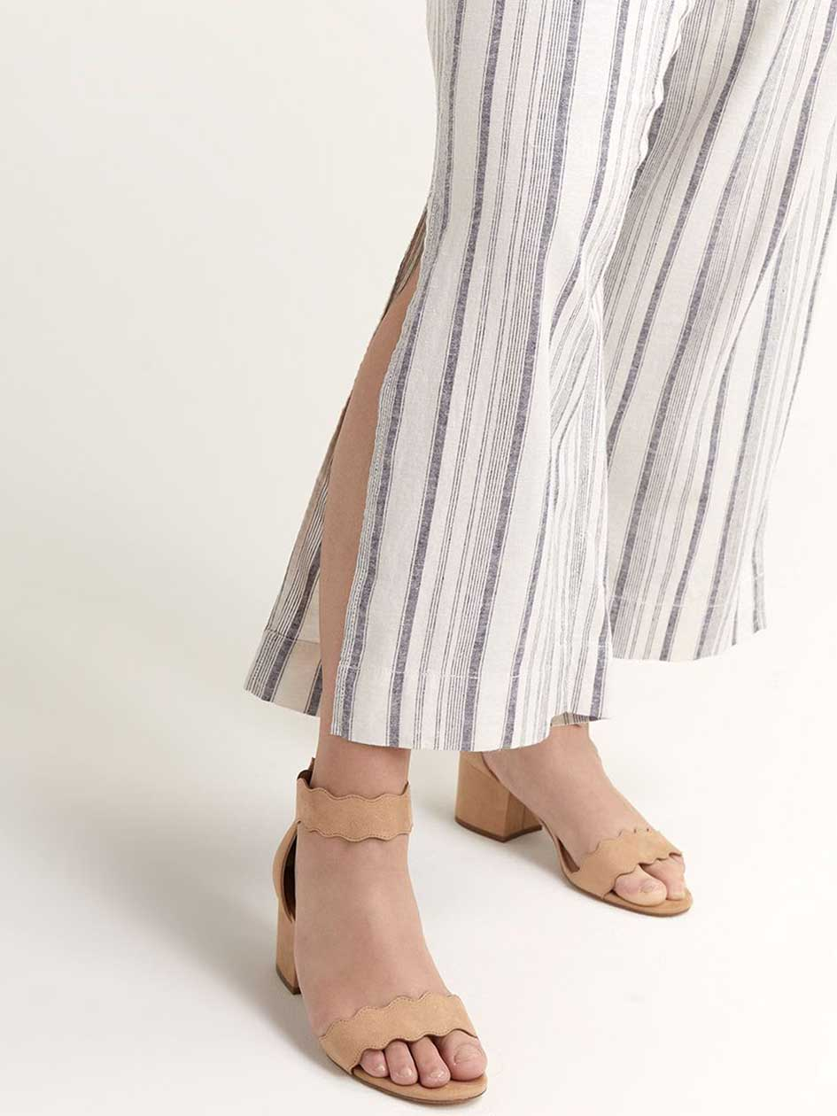 High Waist Striped Wide Pant - Michel Studio