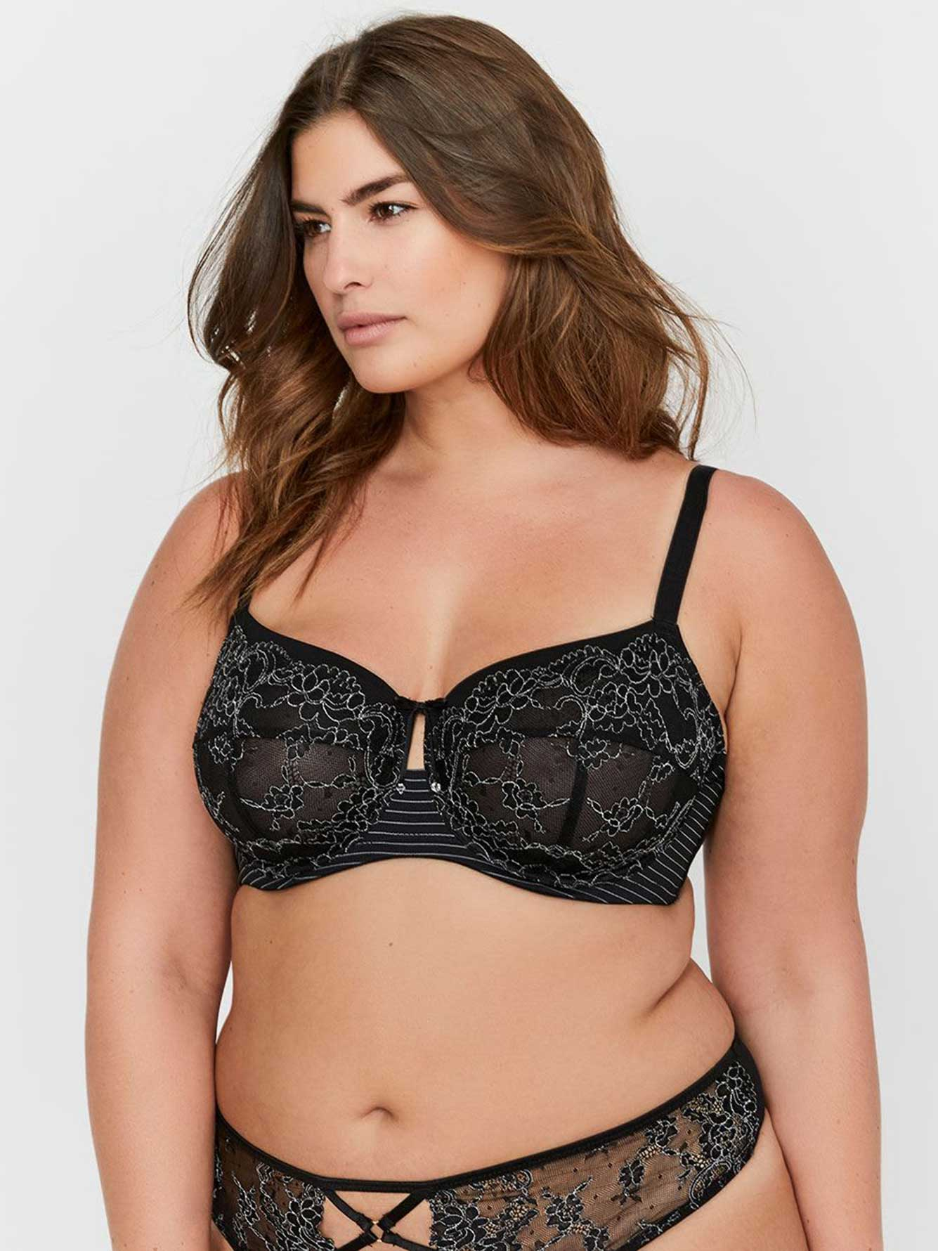 Ashley Graham Seamed Fatal Attraction Unlined Bra