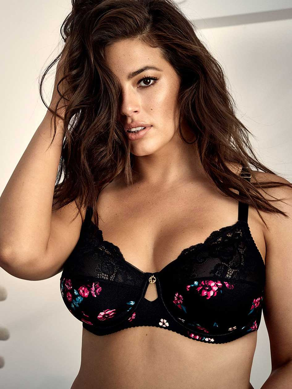 Fatal Attraction Bra with Print and Lace - Ashley Graham