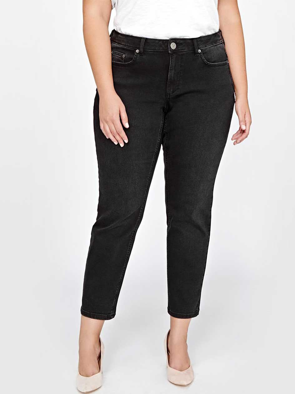L&L Super Sculpt Slim Leg Jean, Curvy Fit, Petite