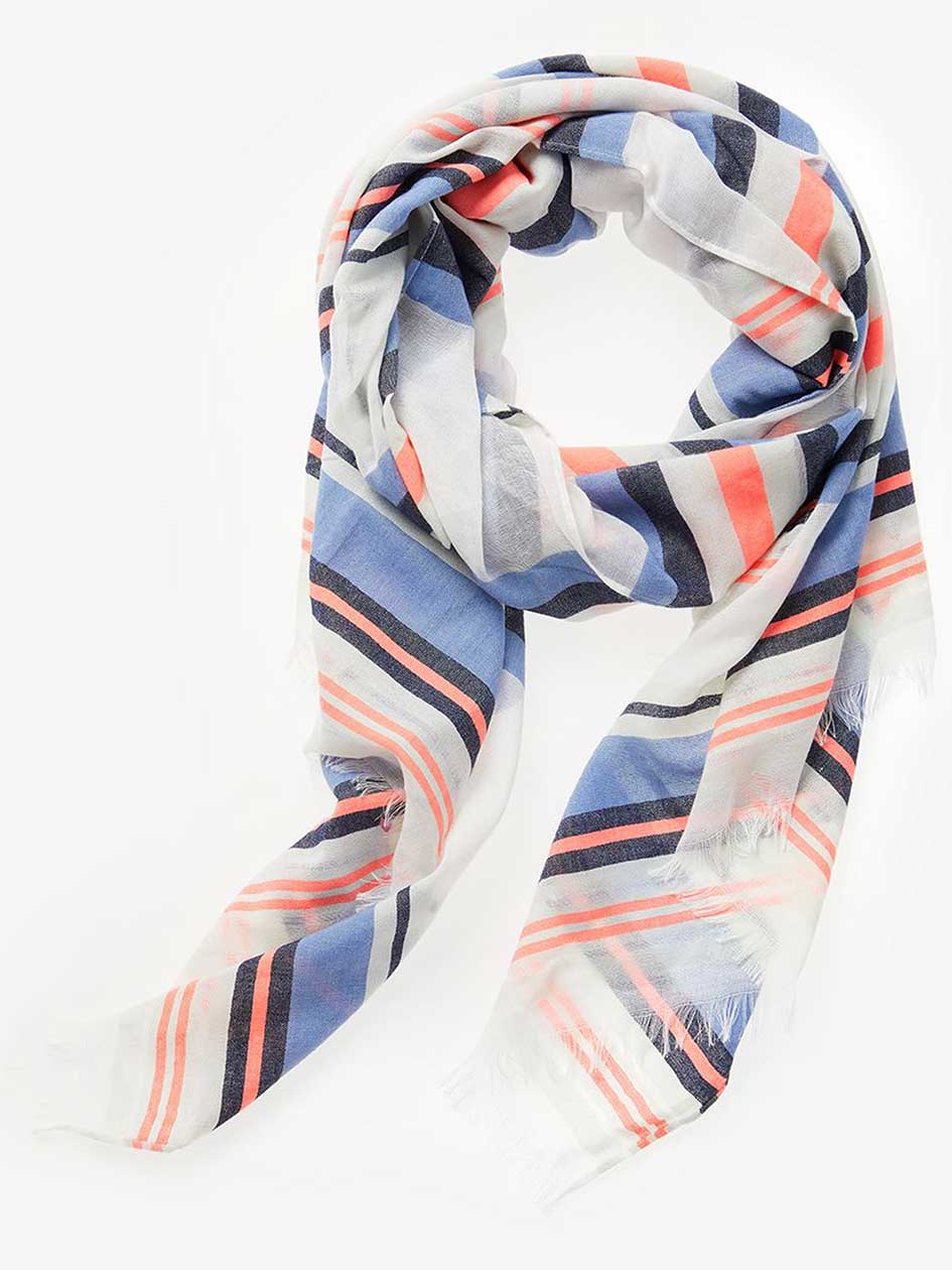 Vintage Scarves- New in the 1920s to 1960s Styles Striped Light Scarf $22.00 AT vintagedancer.com