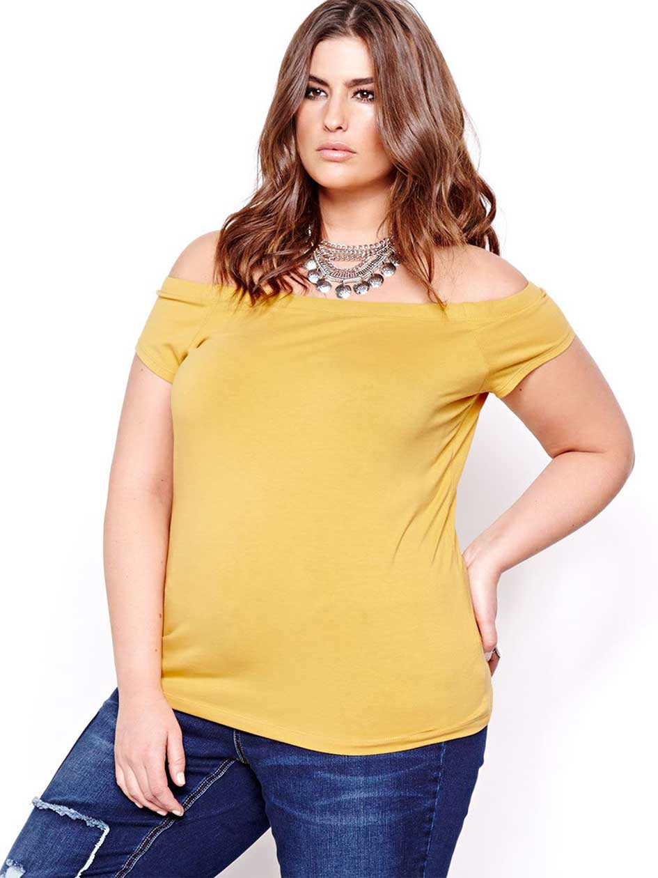 L&L Solid Off Shoulder Top