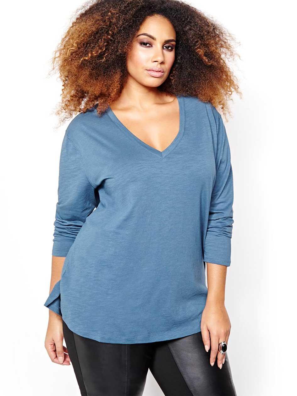 L&L Long Sleeve Drop Shoulder Top