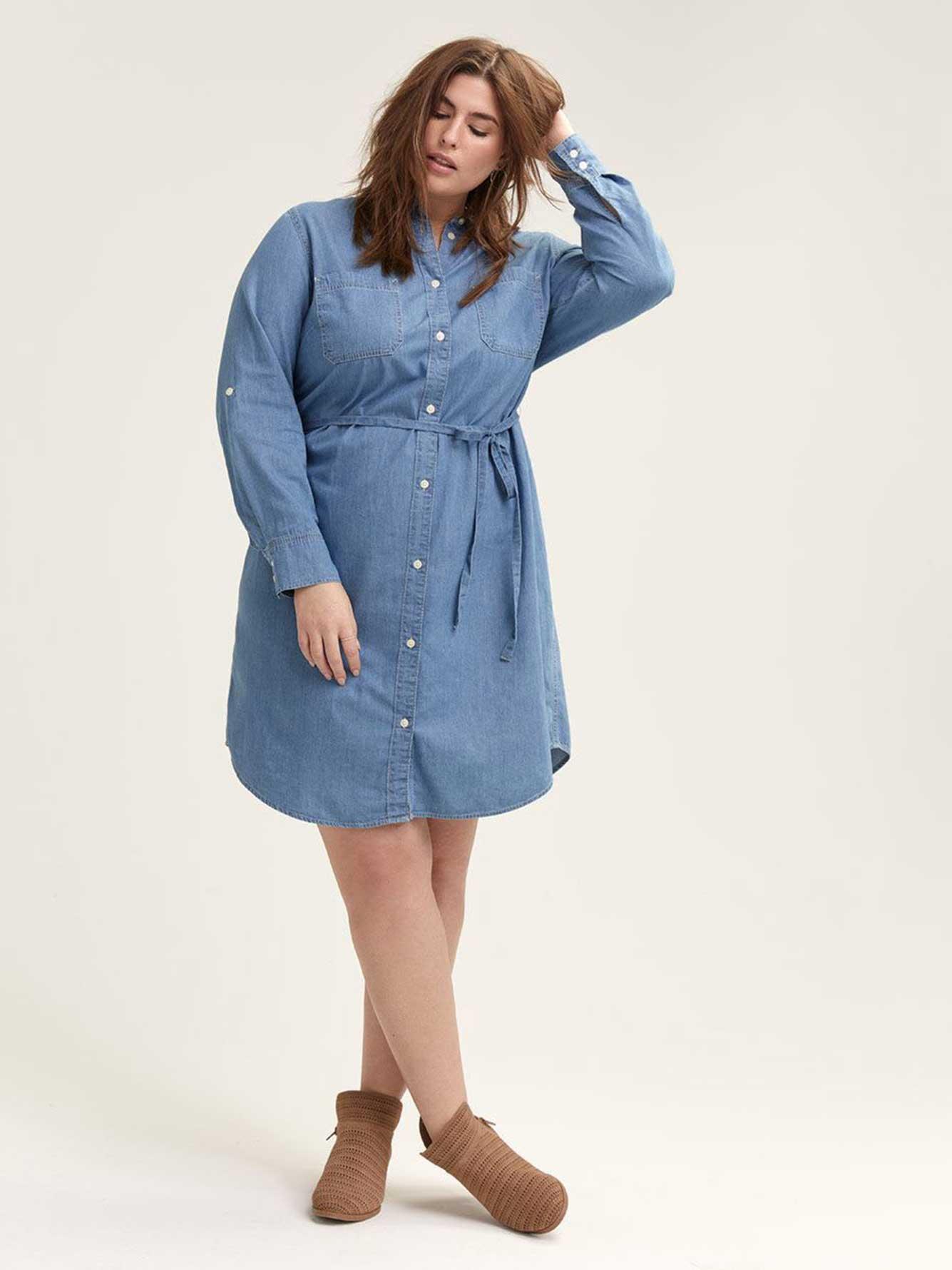 Levi\'s Denim Western Dress | Addition Elle