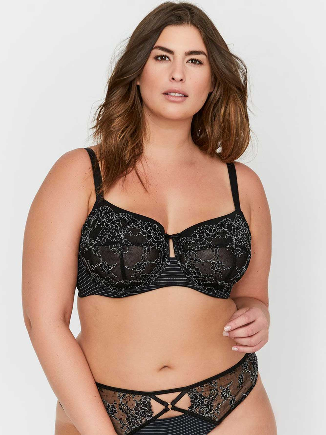 Ashley Graham Seamed Fatal Attraction Unlined Bra, Sizes G & H