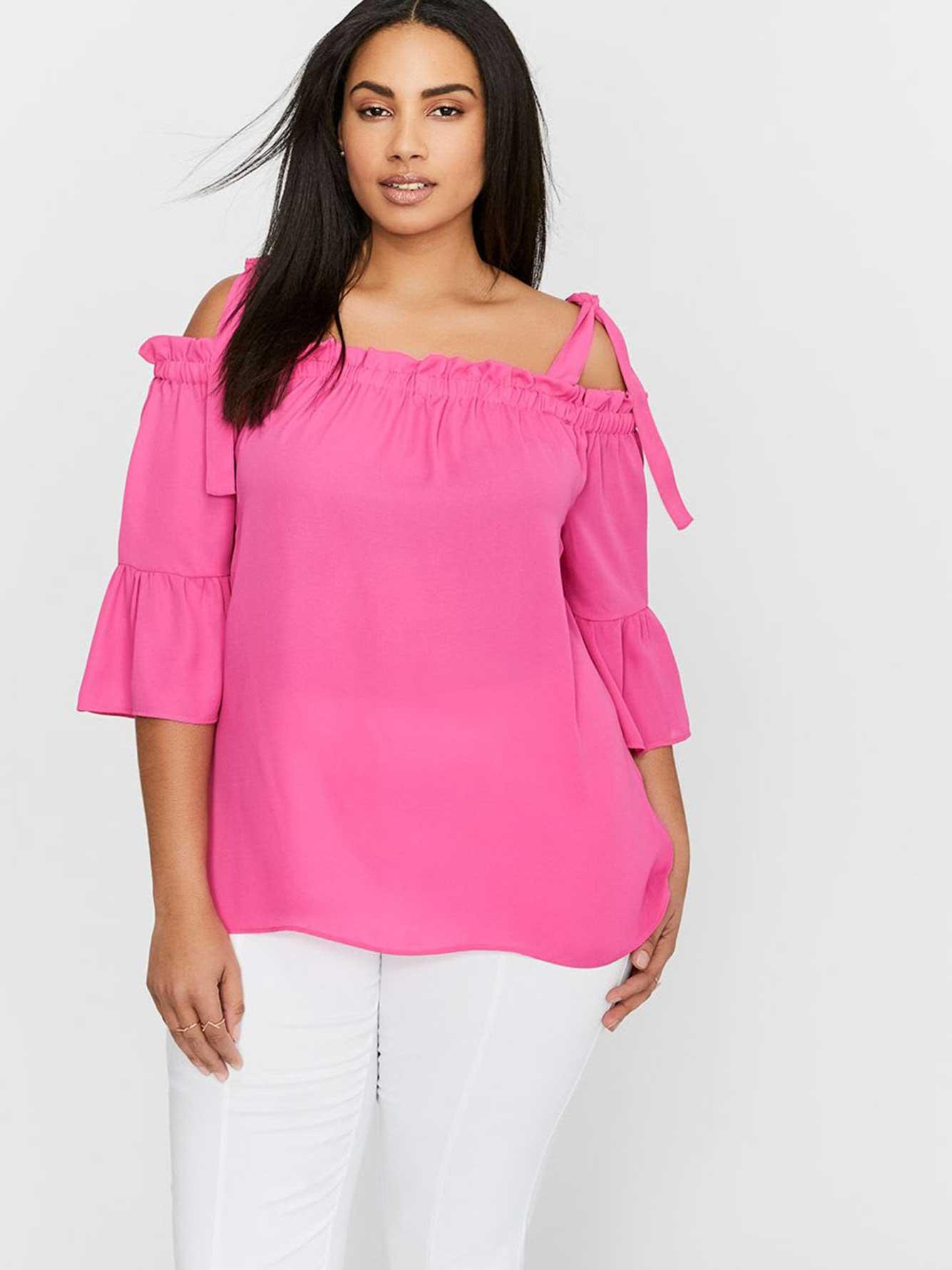 Plus size tasteful sexy blouse