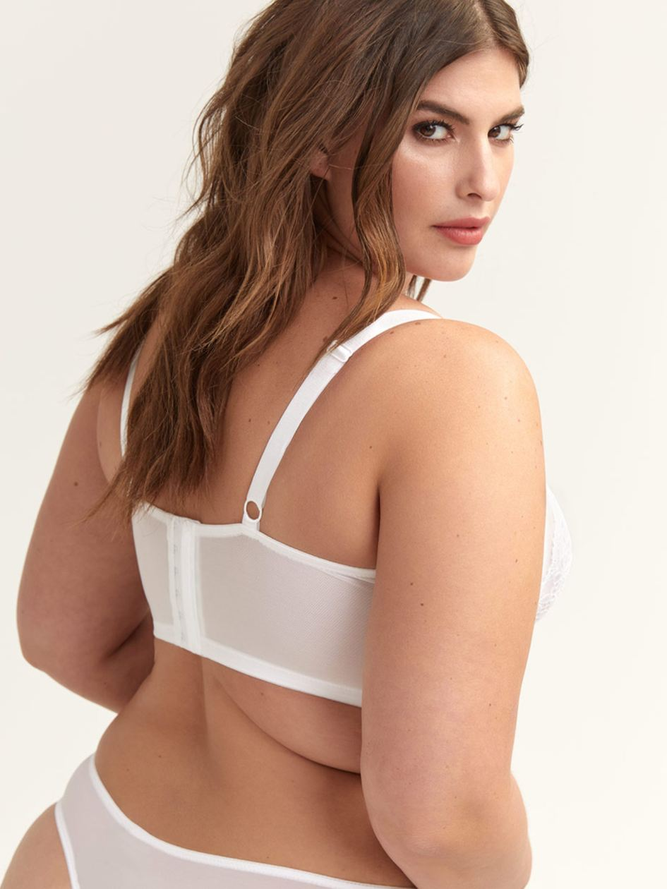 Ashley Graham Long Line Bra with Lace