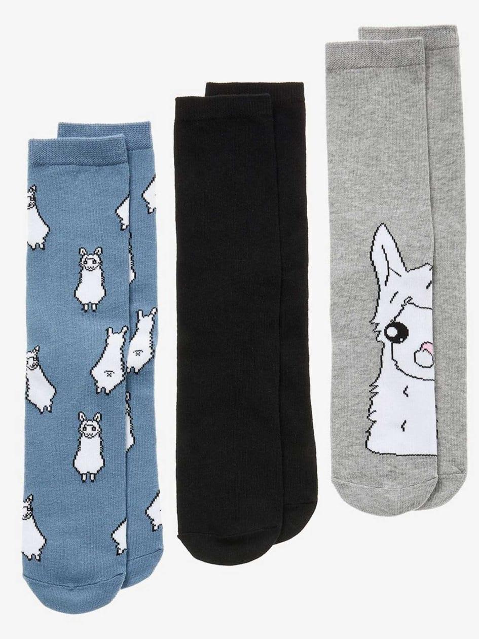 Llama Printed Socks - 3 Pack