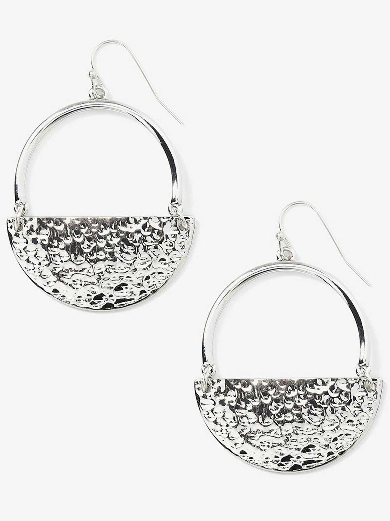 Half moon pendant earrings addition elle half moon pendant earrings aloadofball Images