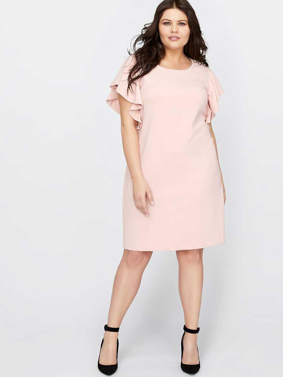 Michel Studio Ruffle Sleeve Dress