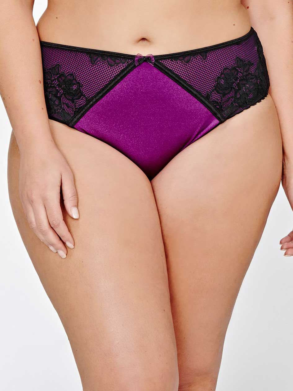 High Cut Panty with Front Lace