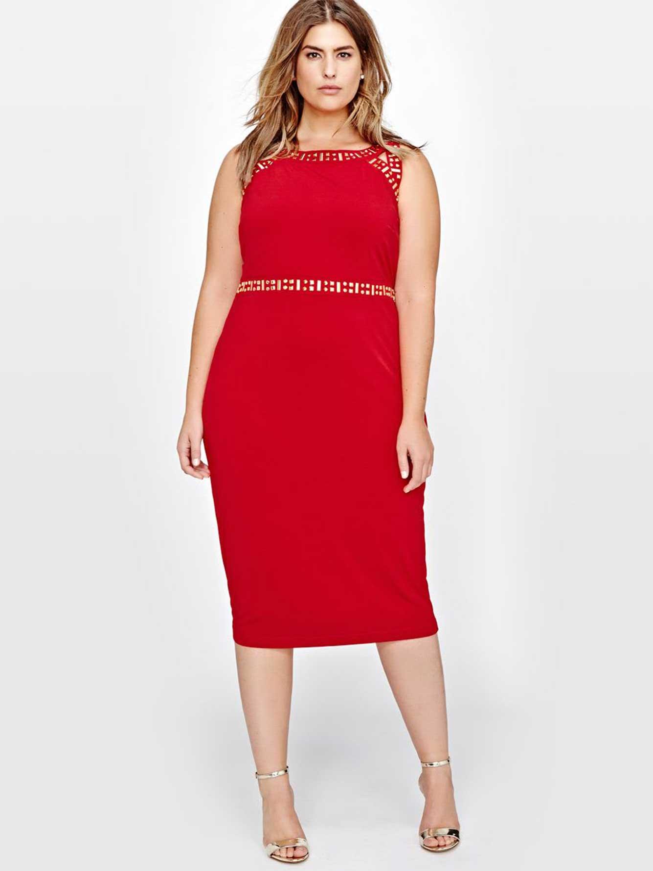 06fb51153d4b8d Sangria Midi Embellished Bodycon Dress