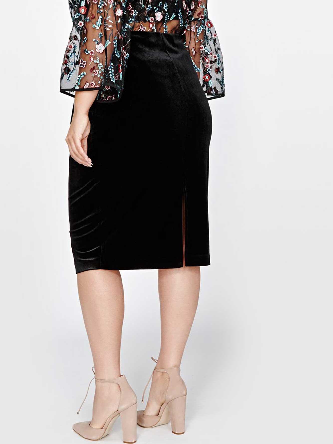 3c73c1656 Michel Studio Velvet Pencil Skirt | Addition Elle