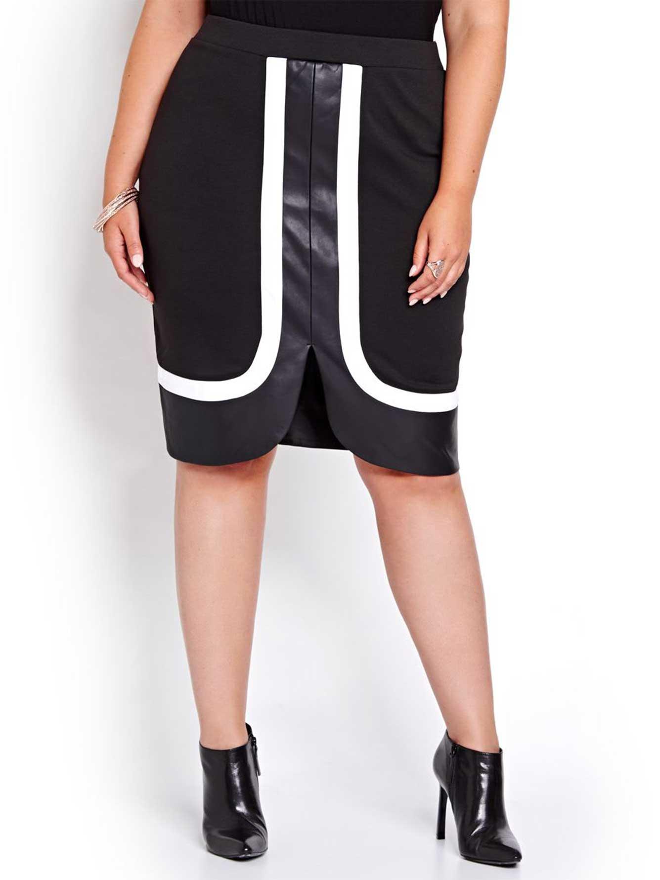 e40846969 Michel Studio Ponte di Roma Pencil Skirt with Trim | Addition Elle