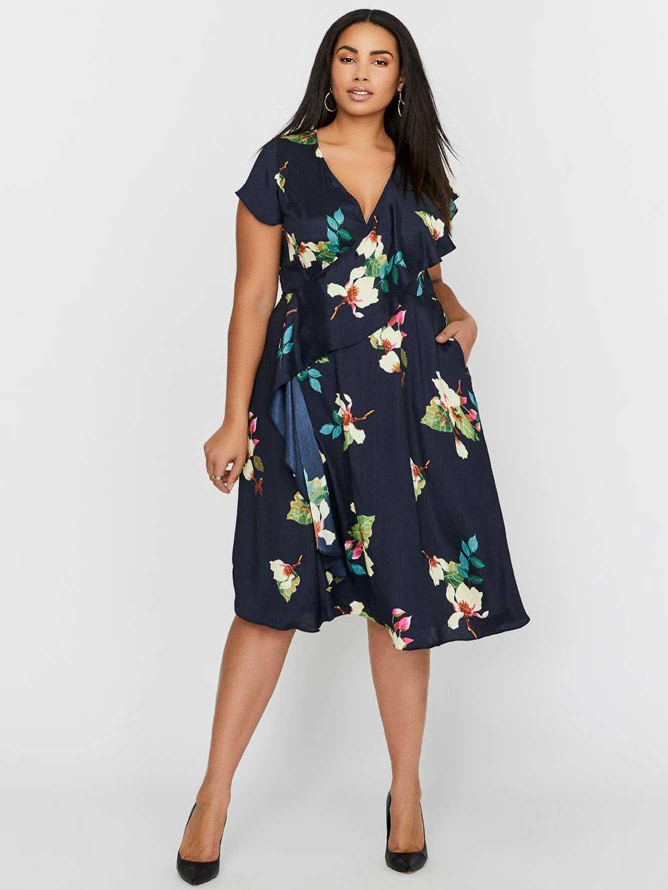 0cd5a7564d0 Rachel Roy Magnolia Faux-Wrap Midi Dress