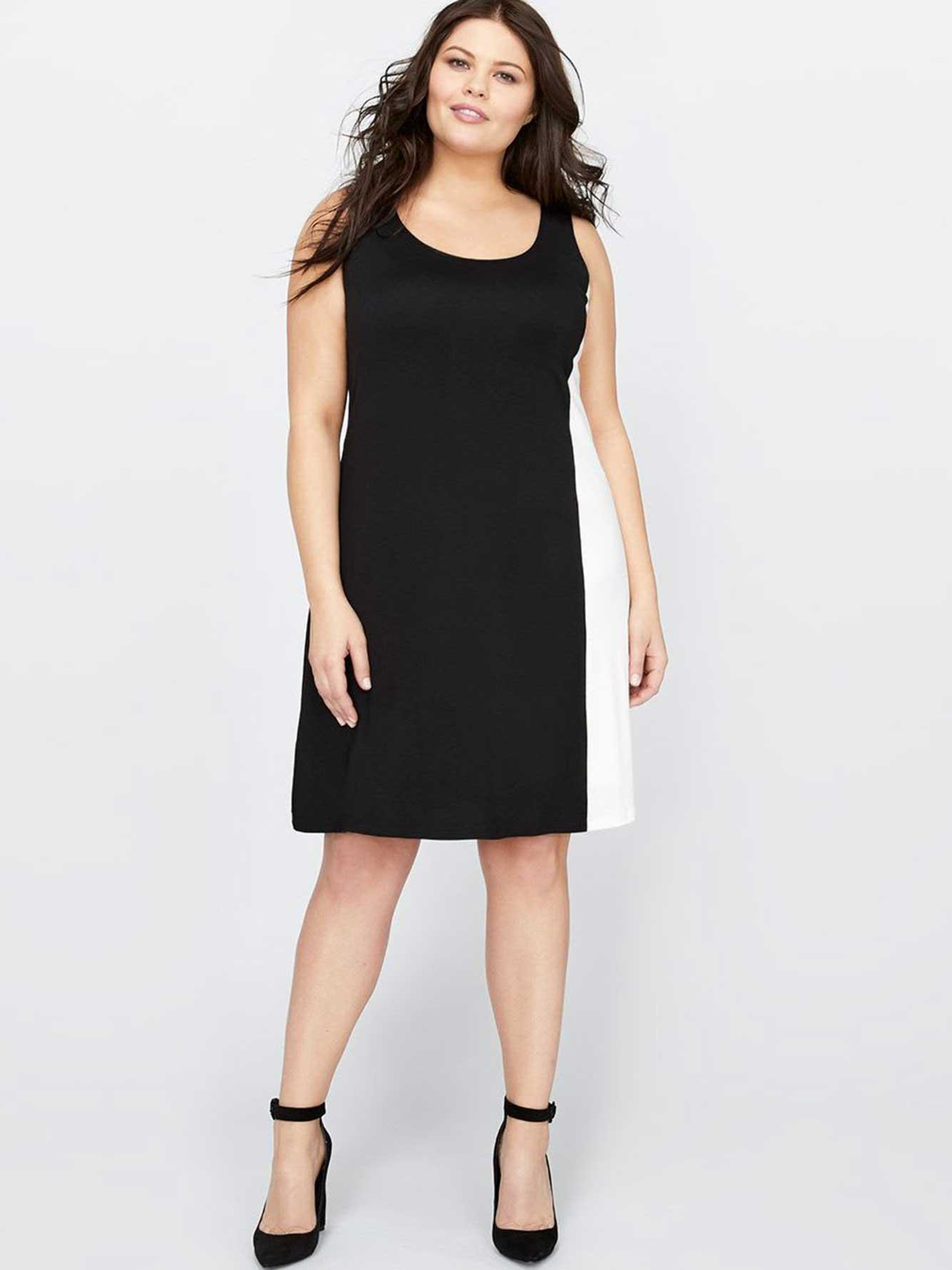 Michel Studio Black and White Colorblock Dress | Addition Elle