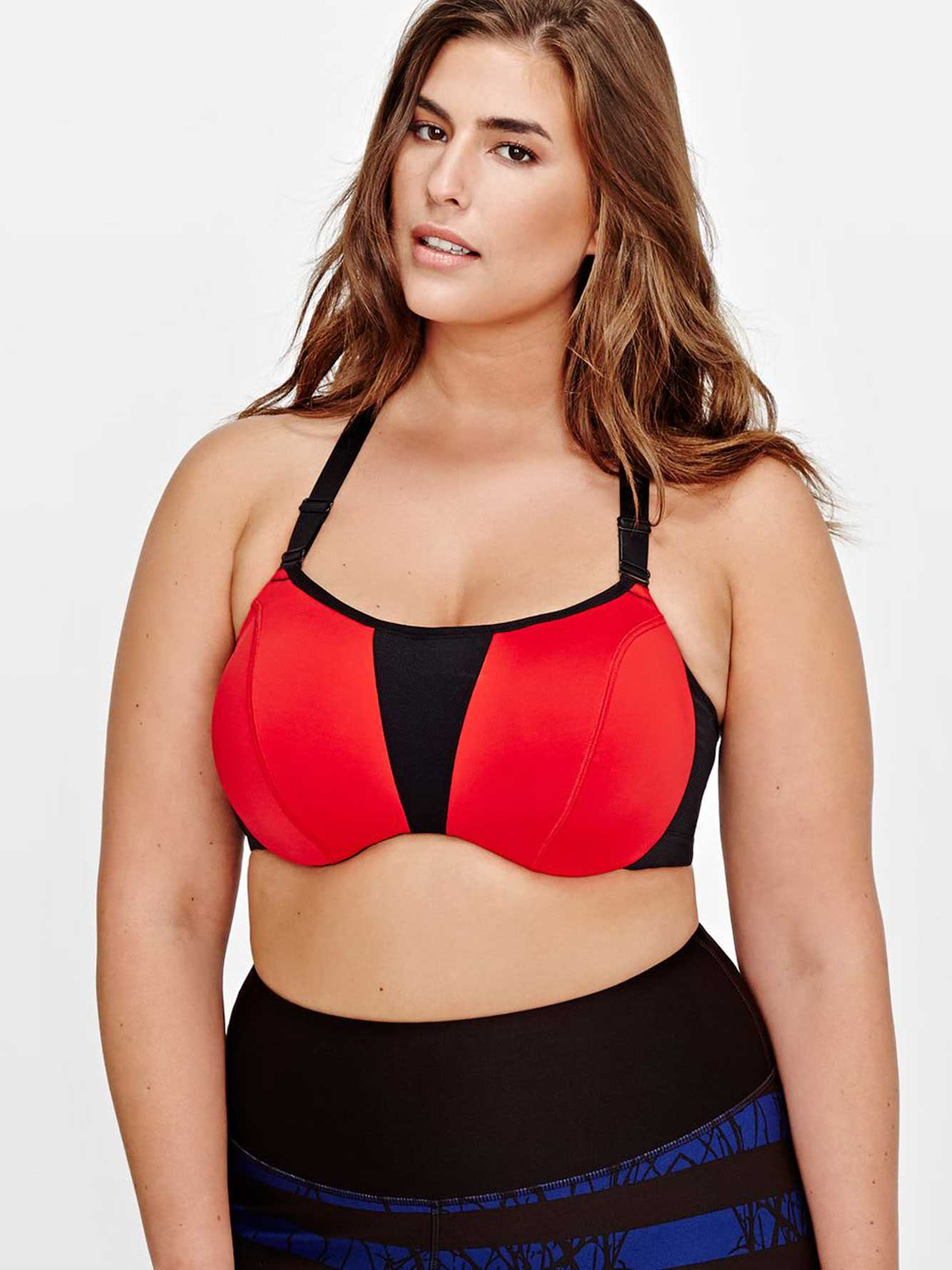 0b39a772dbb Nola Underwire Criss-Cross Sports Bra - High impact | Addition Elle