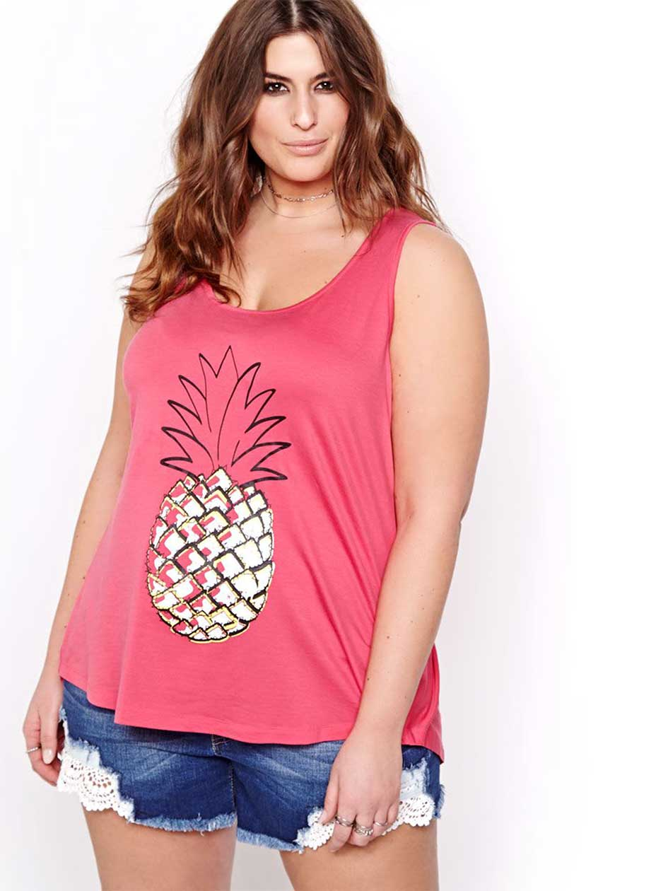 L&L Printed Tank Top with Knotted Back