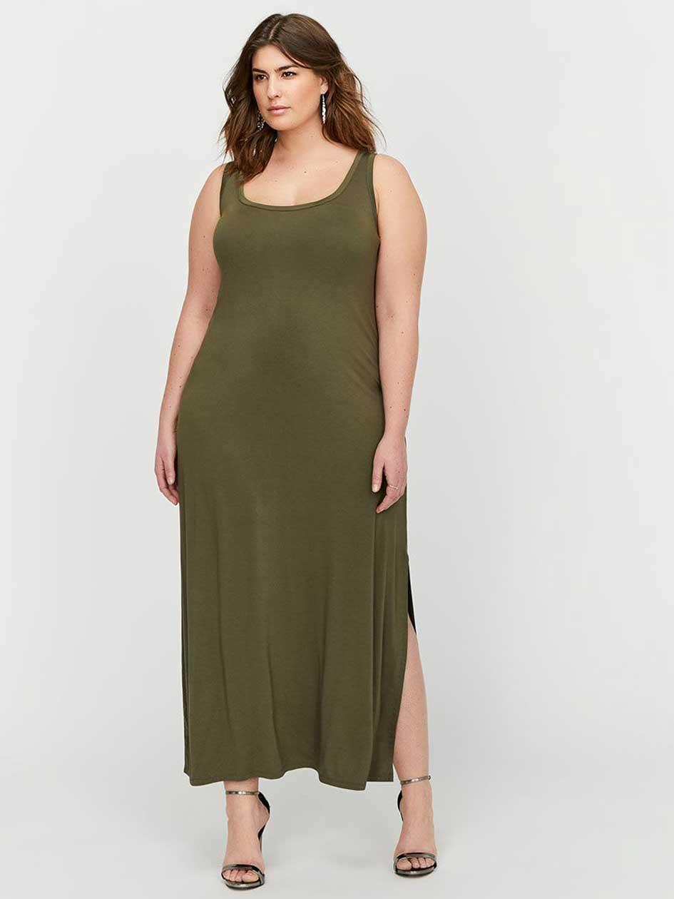 L&L Back Lace-Up Tank Maxi Dress