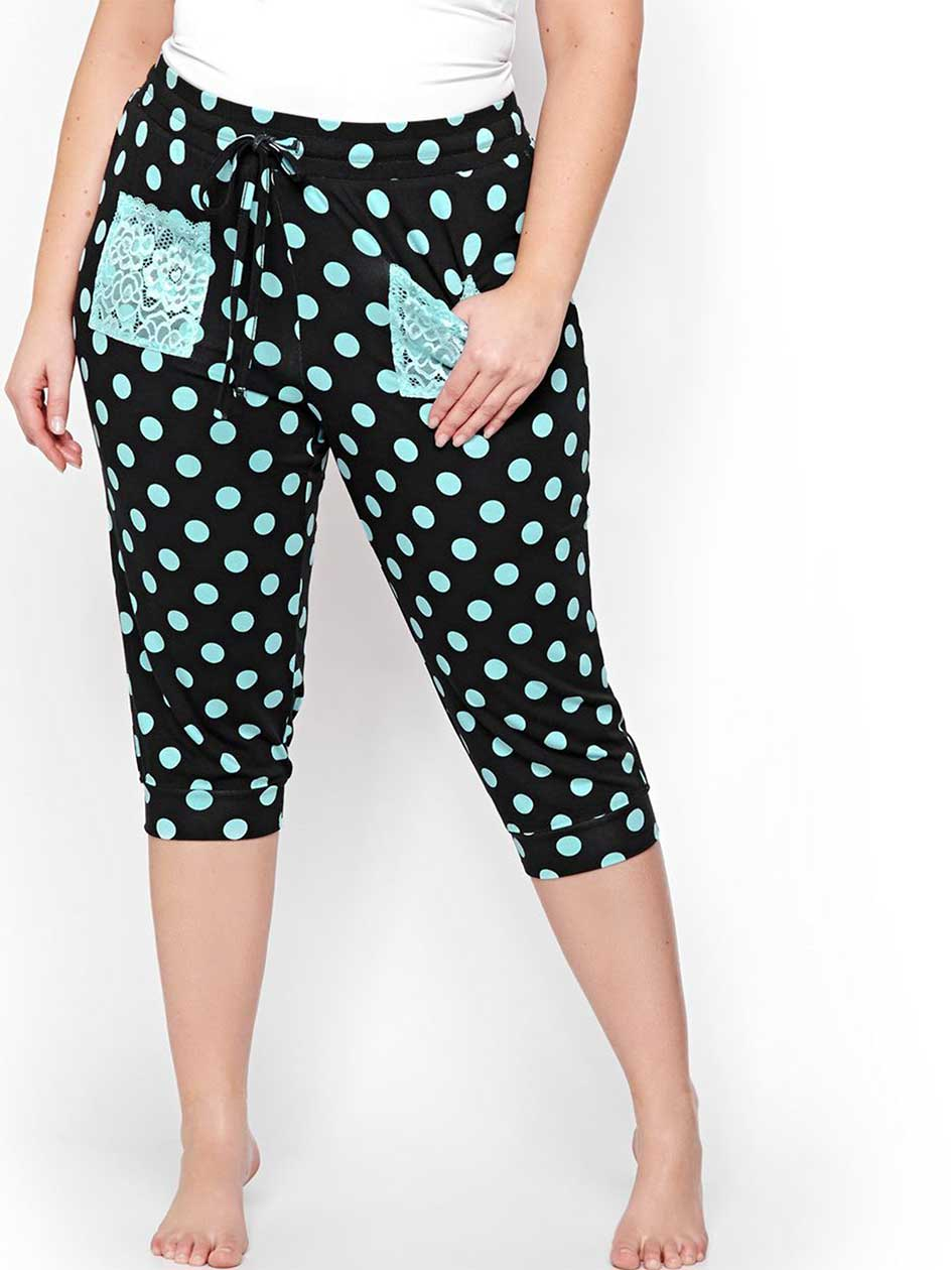 Polka Dot Capri PJ Legging - Déesse Collection