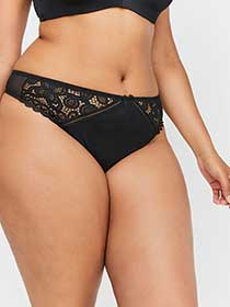 Basic Lace Thong - Déesse Collection