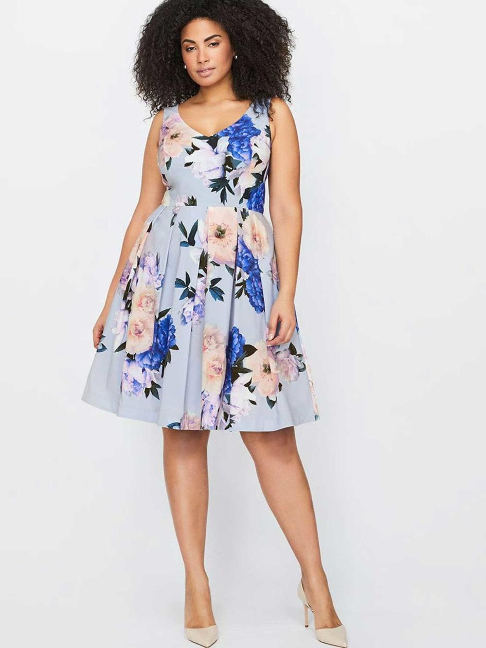 City Chic Flower Dress