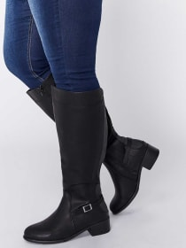Double Wide Buckle Boot - Sarah