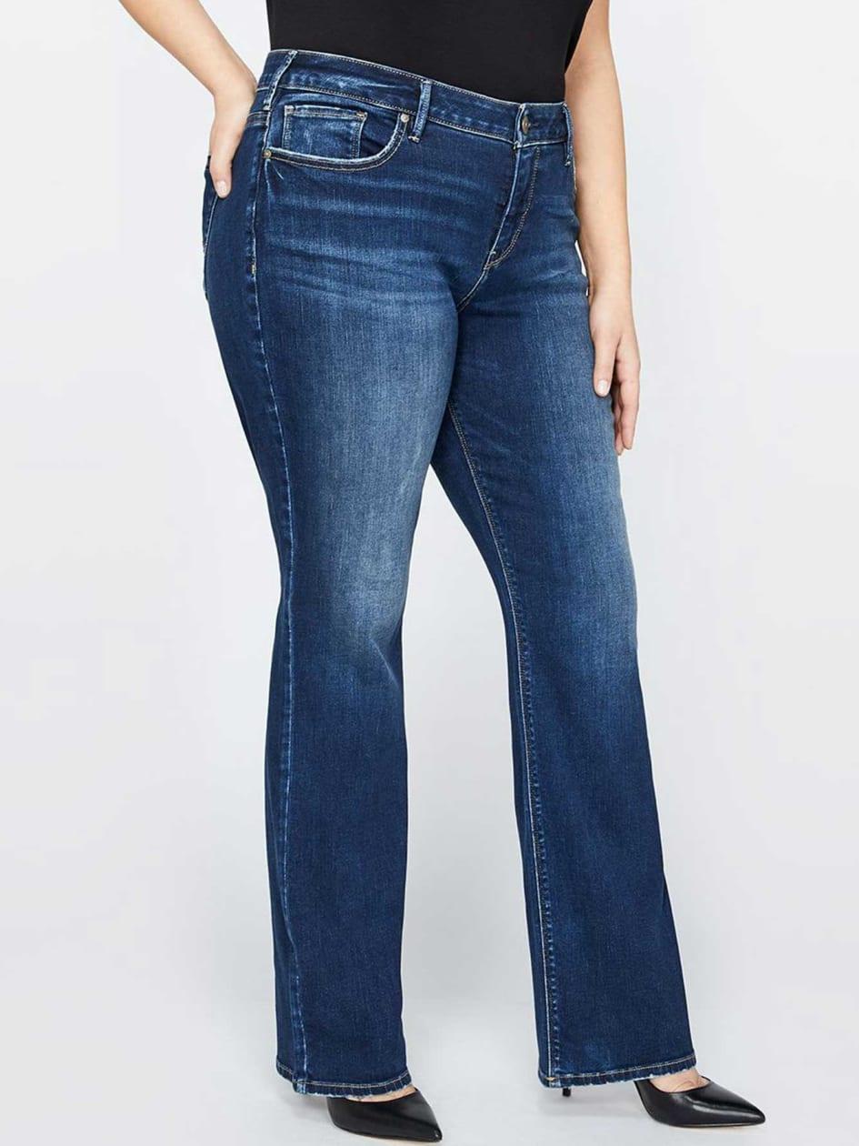 Silver Avery Slim Bootcut Jean