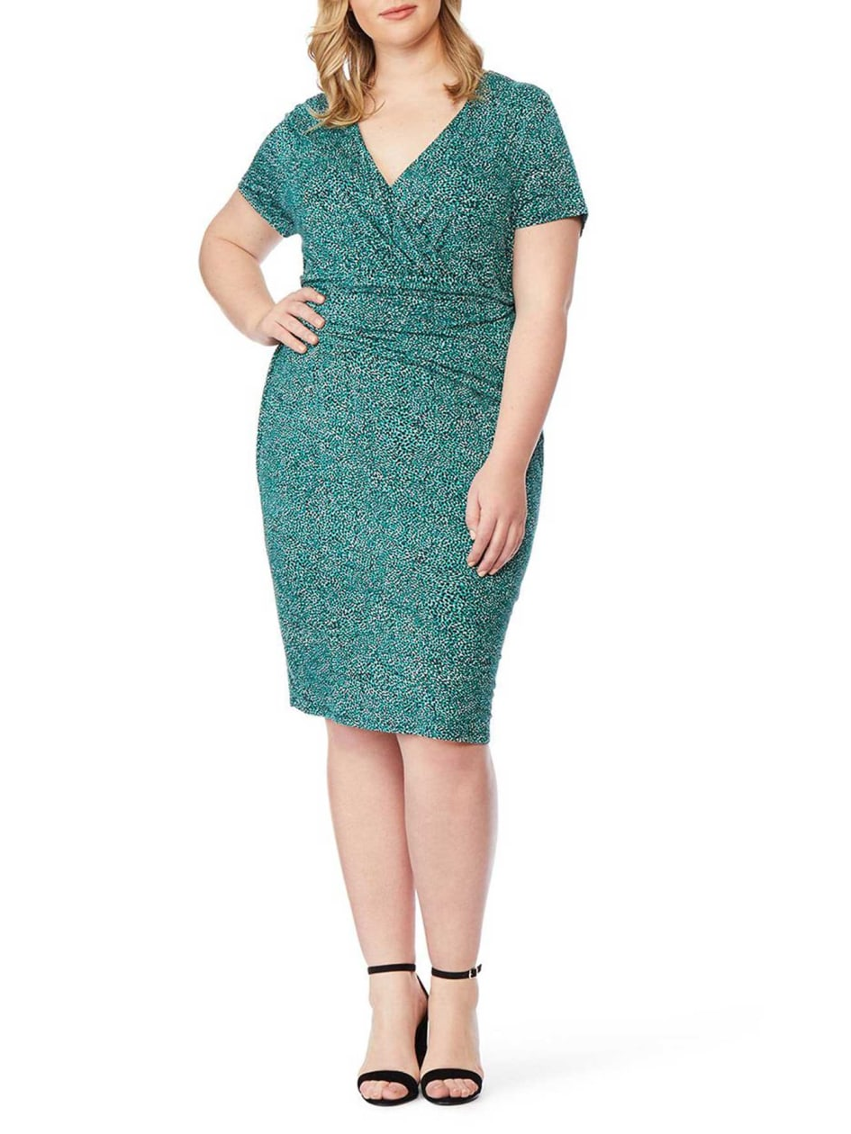 00c3e5629cdd4 Fitted Faux-Wrap Dress - Rebel Wilson