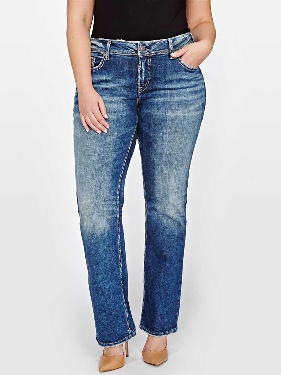 Silver Suki Slim Boot Cut Jean.Medium Denim.16