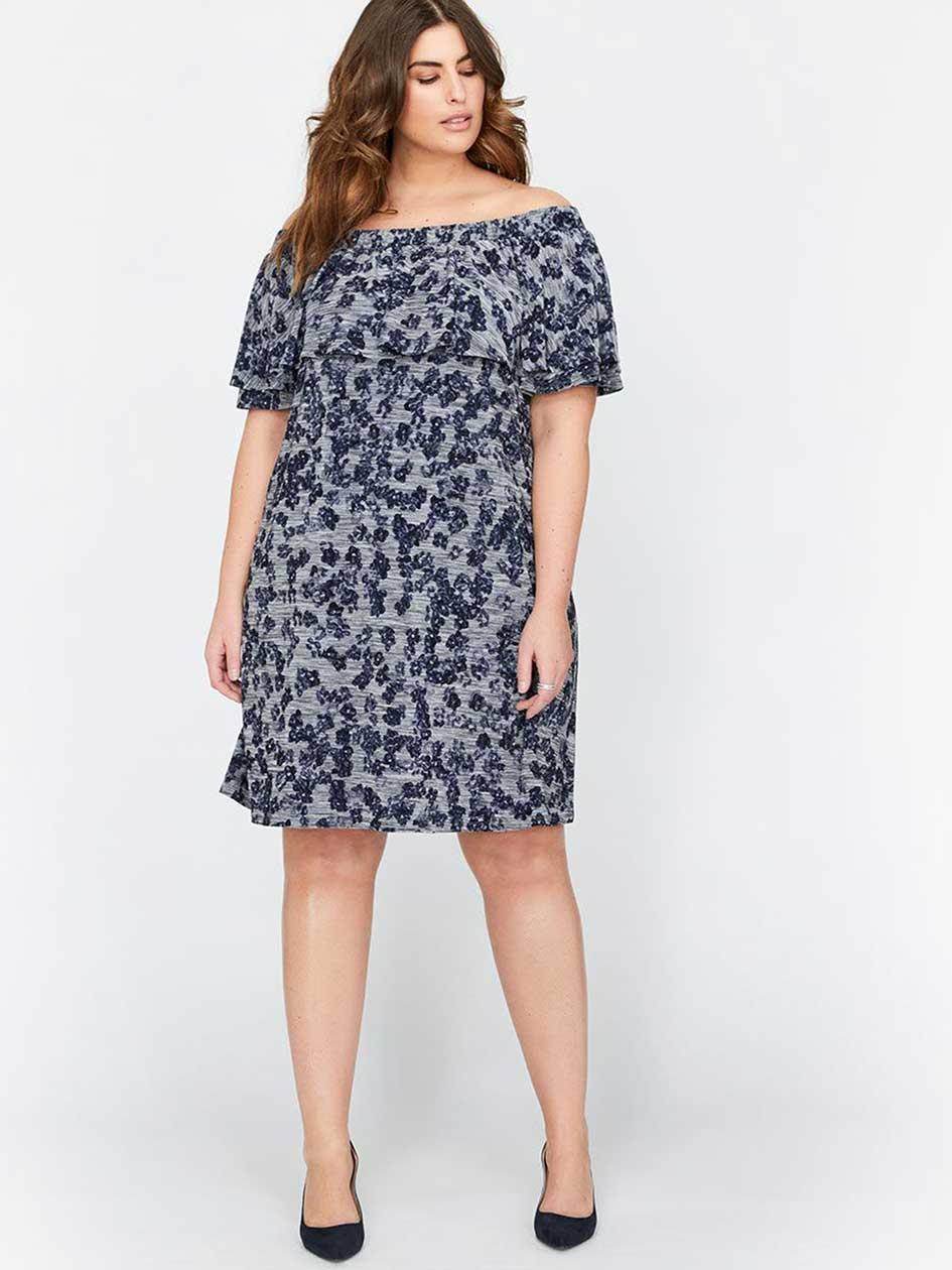 Rachel Roy Off-the-Shoulder, Ruffled Bandeau Dress