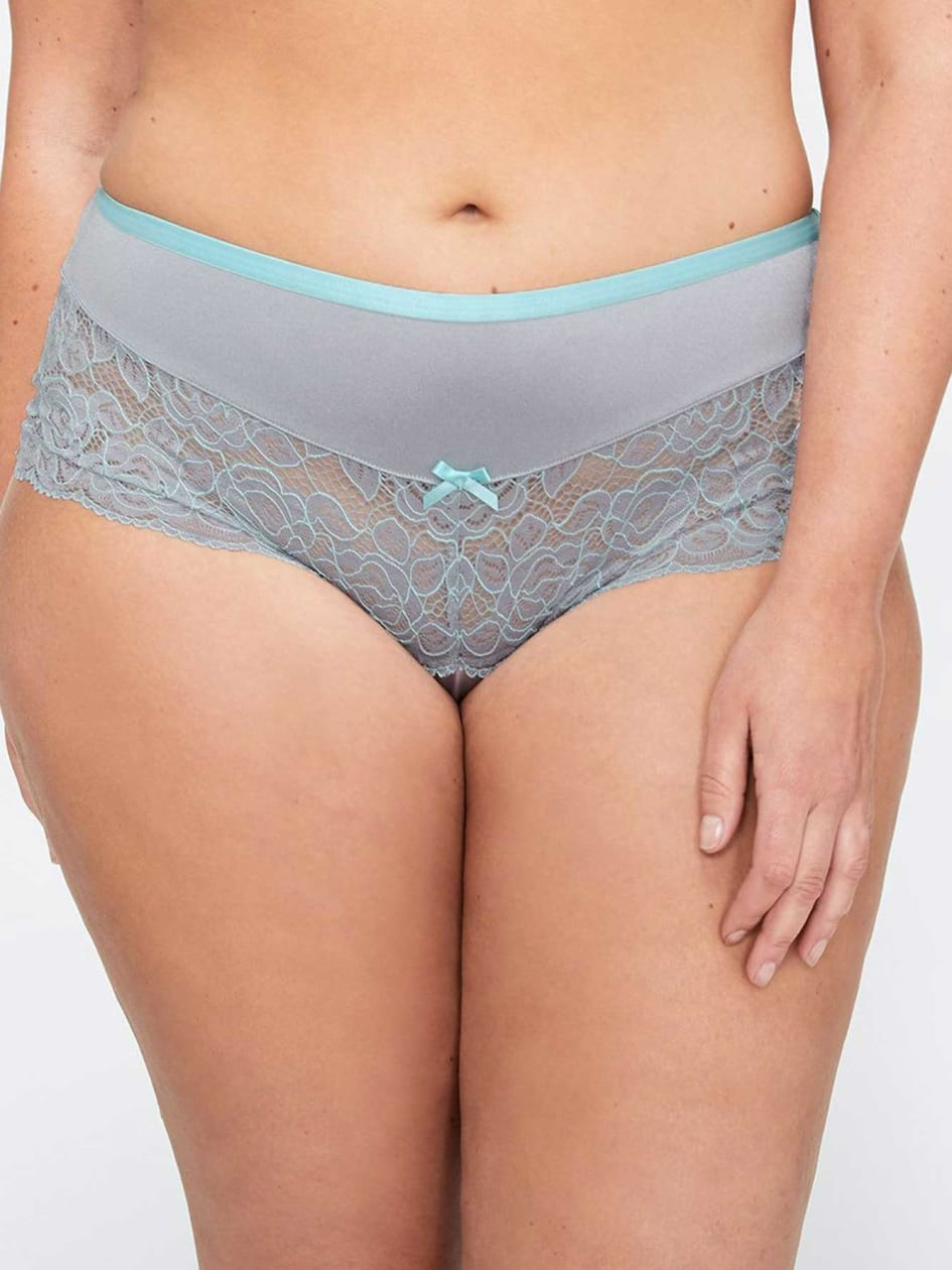 Boxer Panty with Lace Detail