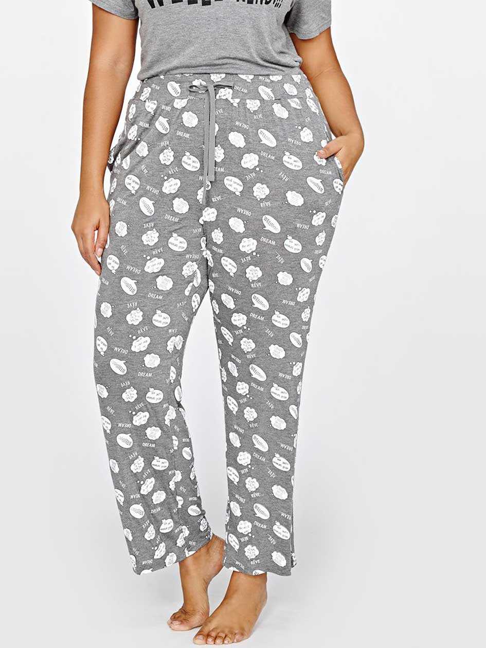 Printed Heather PJ Pant