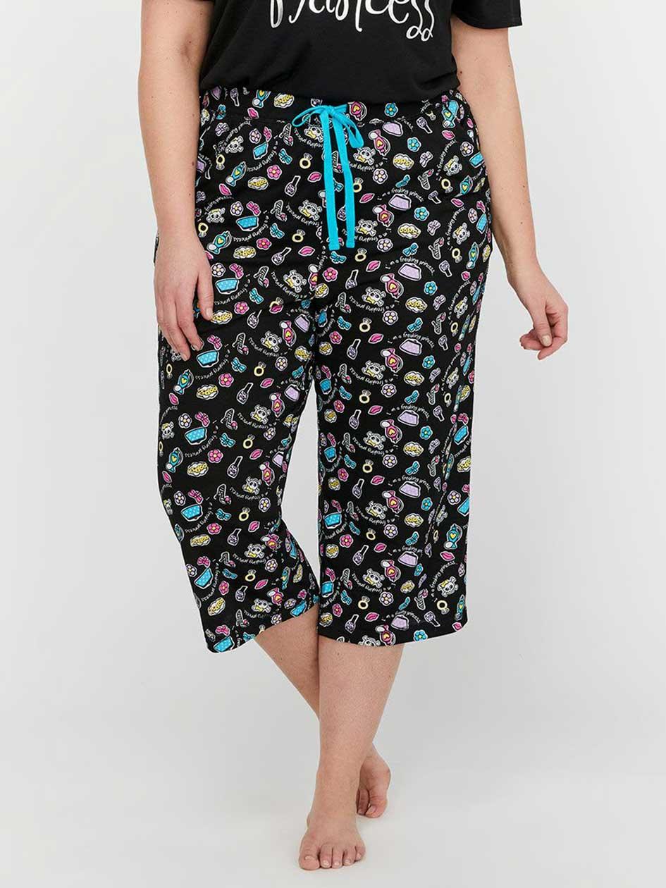 Printed Pajama Capri