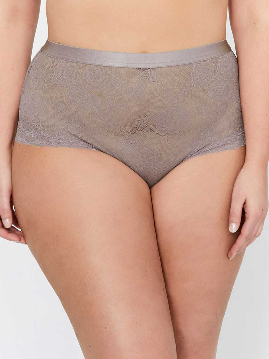 Brazilian Panty with Lace Detail