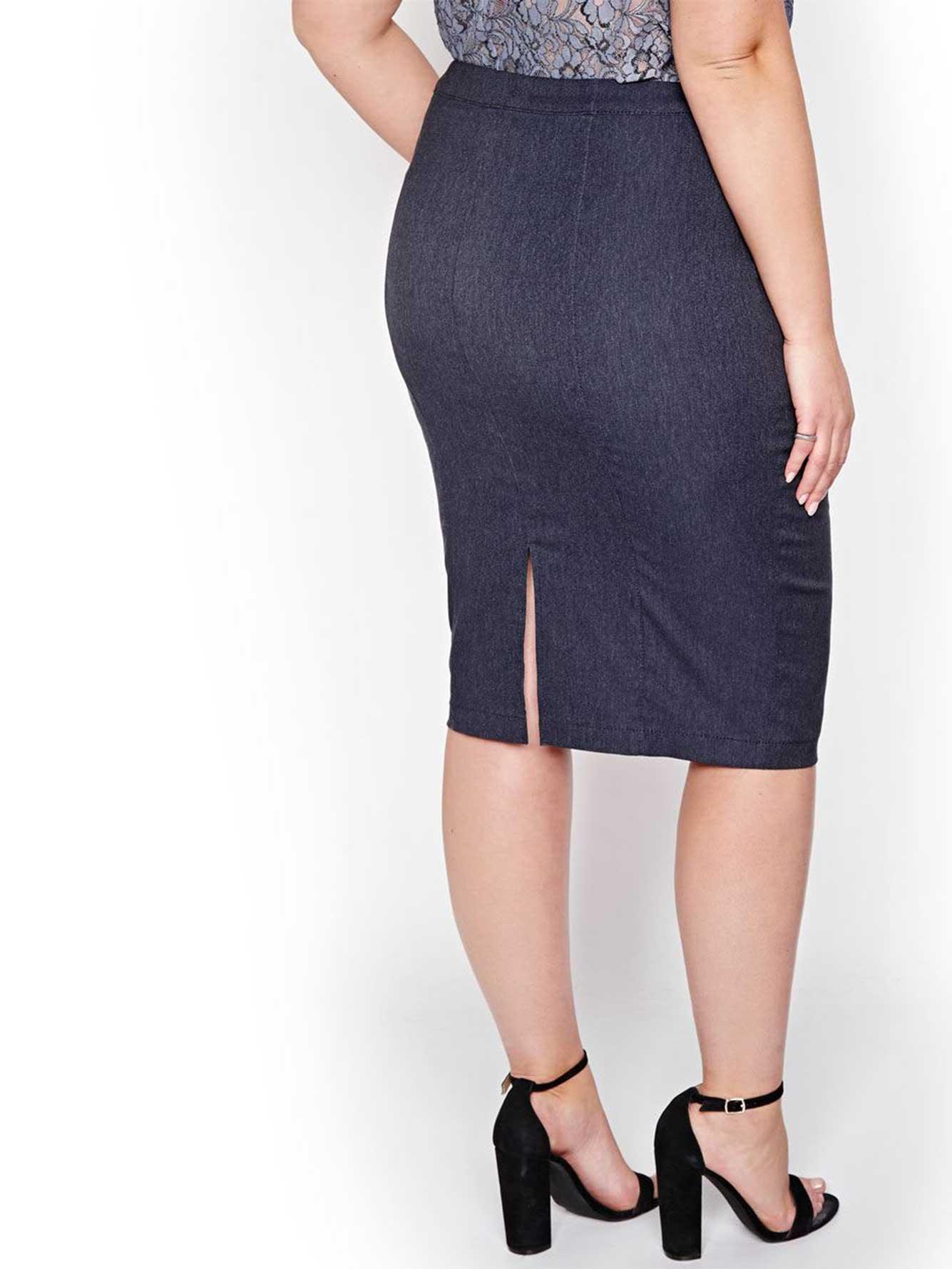 c651f3abb Michel Studio Pencil Skirt with Back Vent | Addition Elle