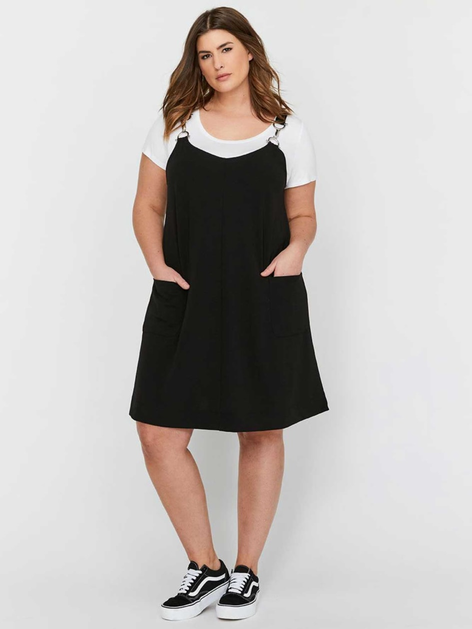 Michel Studio Buckled Pinafore A-line Dress