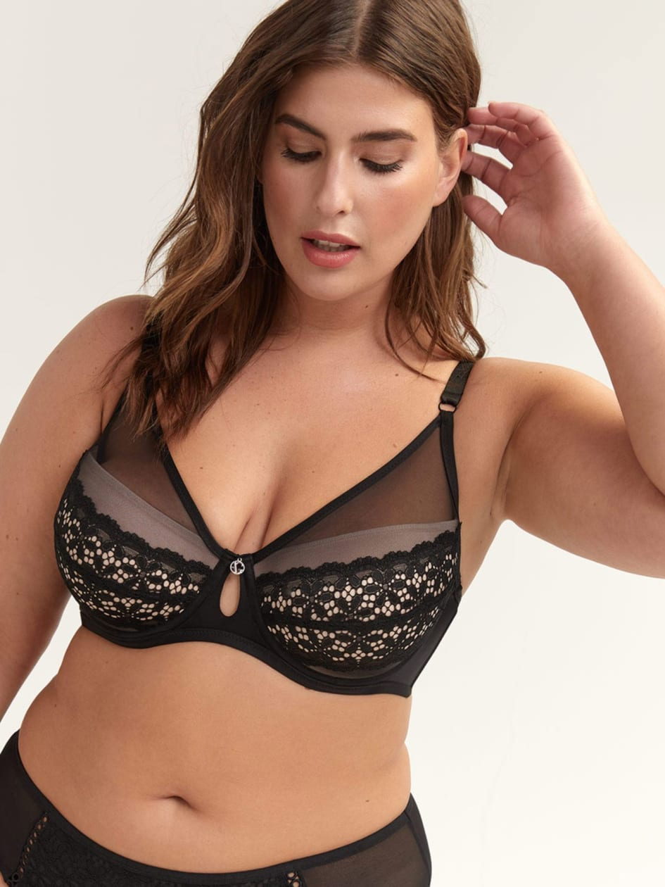 fac972f553f Diva Bra with Voile & Lace - Ashley Graham