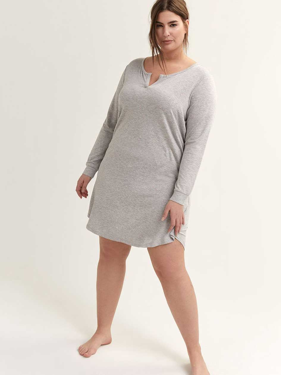 23c0929164 Long Sleeve Sleepshirt - Déesse Collection