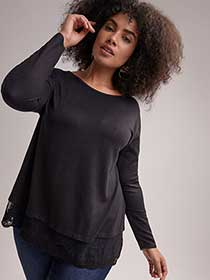 Premium Essential Top with Lace Fooler - Michel Studio