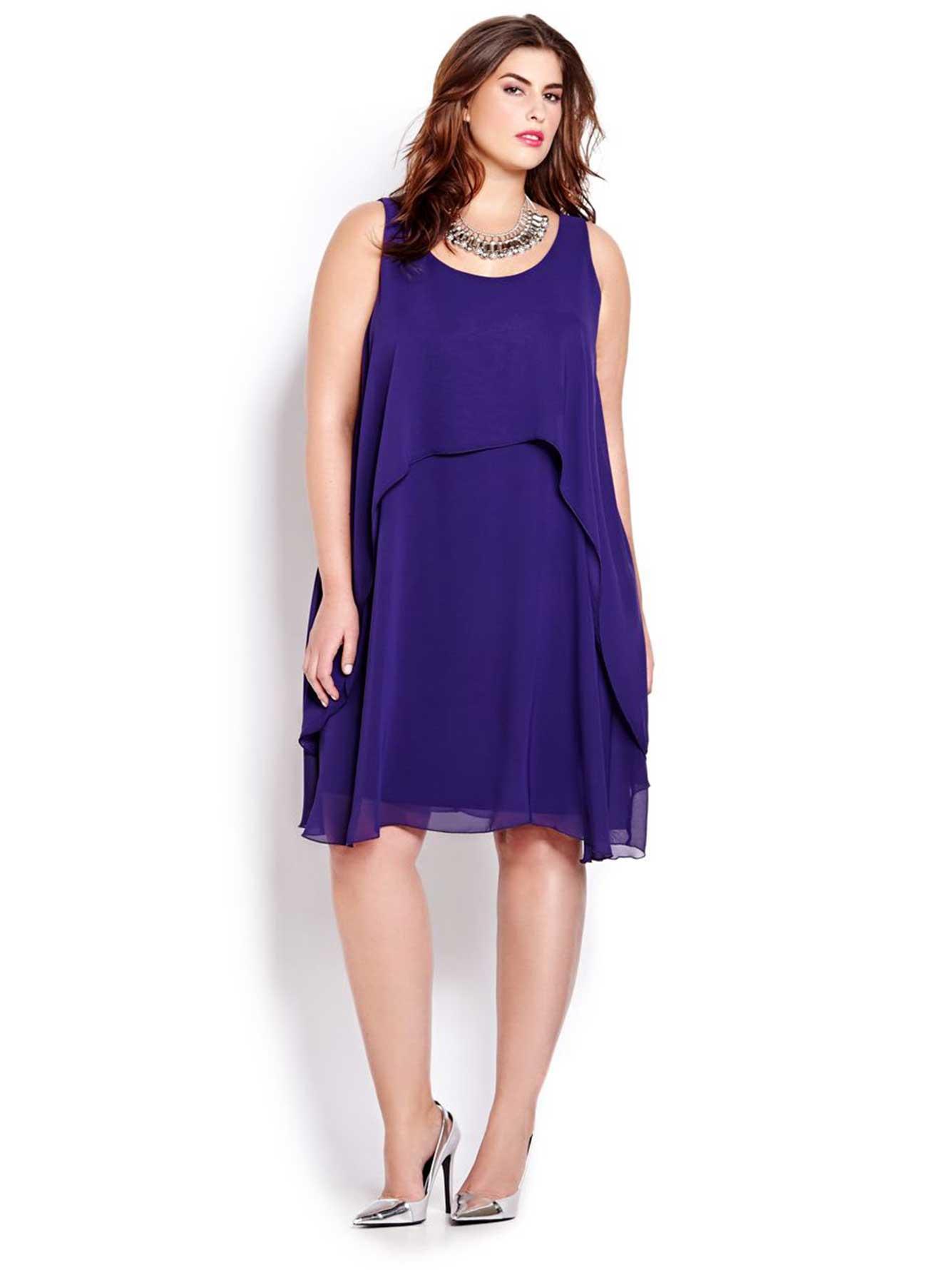 36c93cbb33b7 Sleeveless Chiffon Dress | Addition Elle