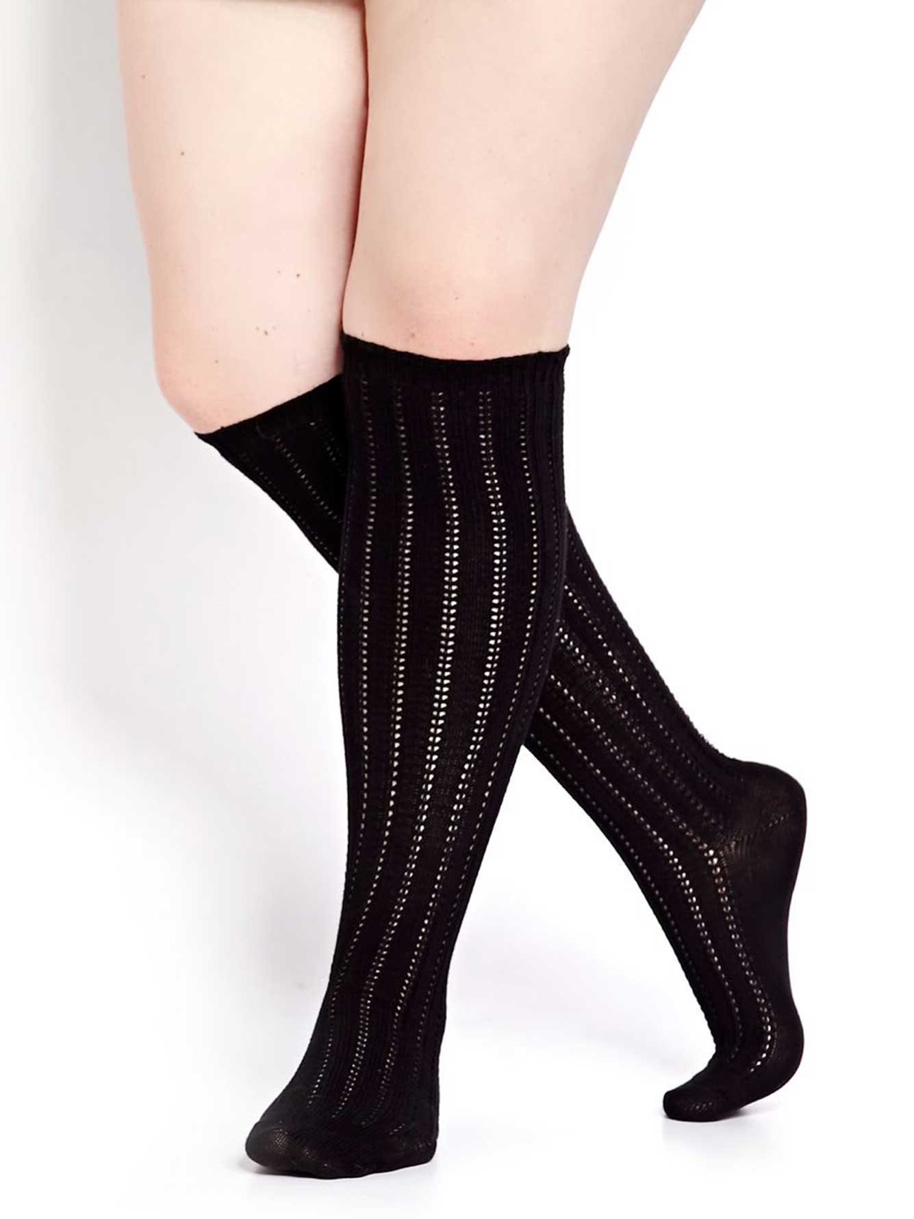 938c9cbac Cable Knit Over-The-Knee Sock