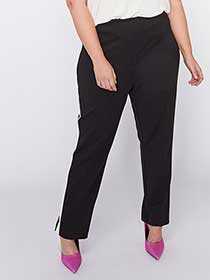 Black and White Contrast Stripe Pant - L&L