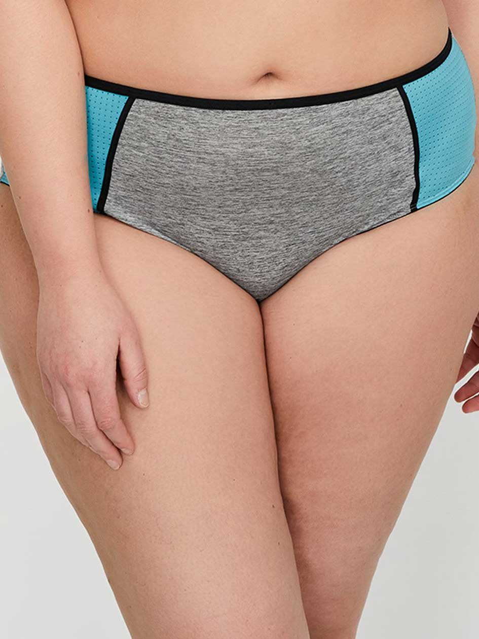 Grey Base with Mesh High Cut Panty