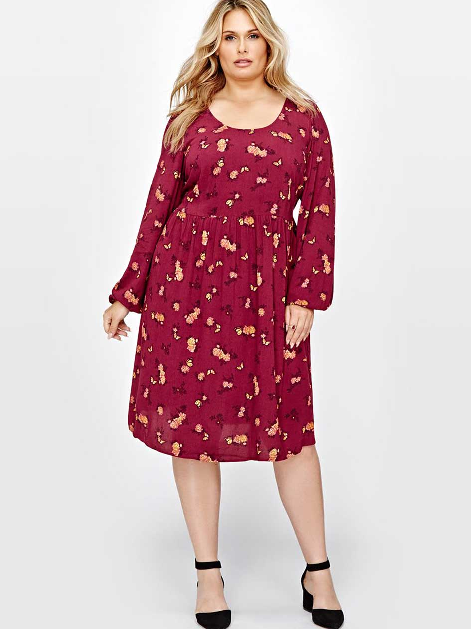 L&L Floral Print Swing Dress