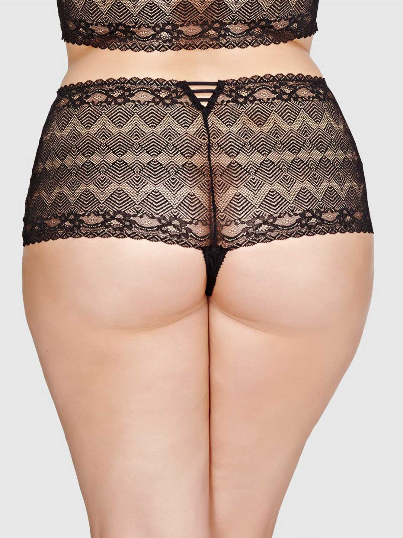 ashley graham lace thong panty | addition elle