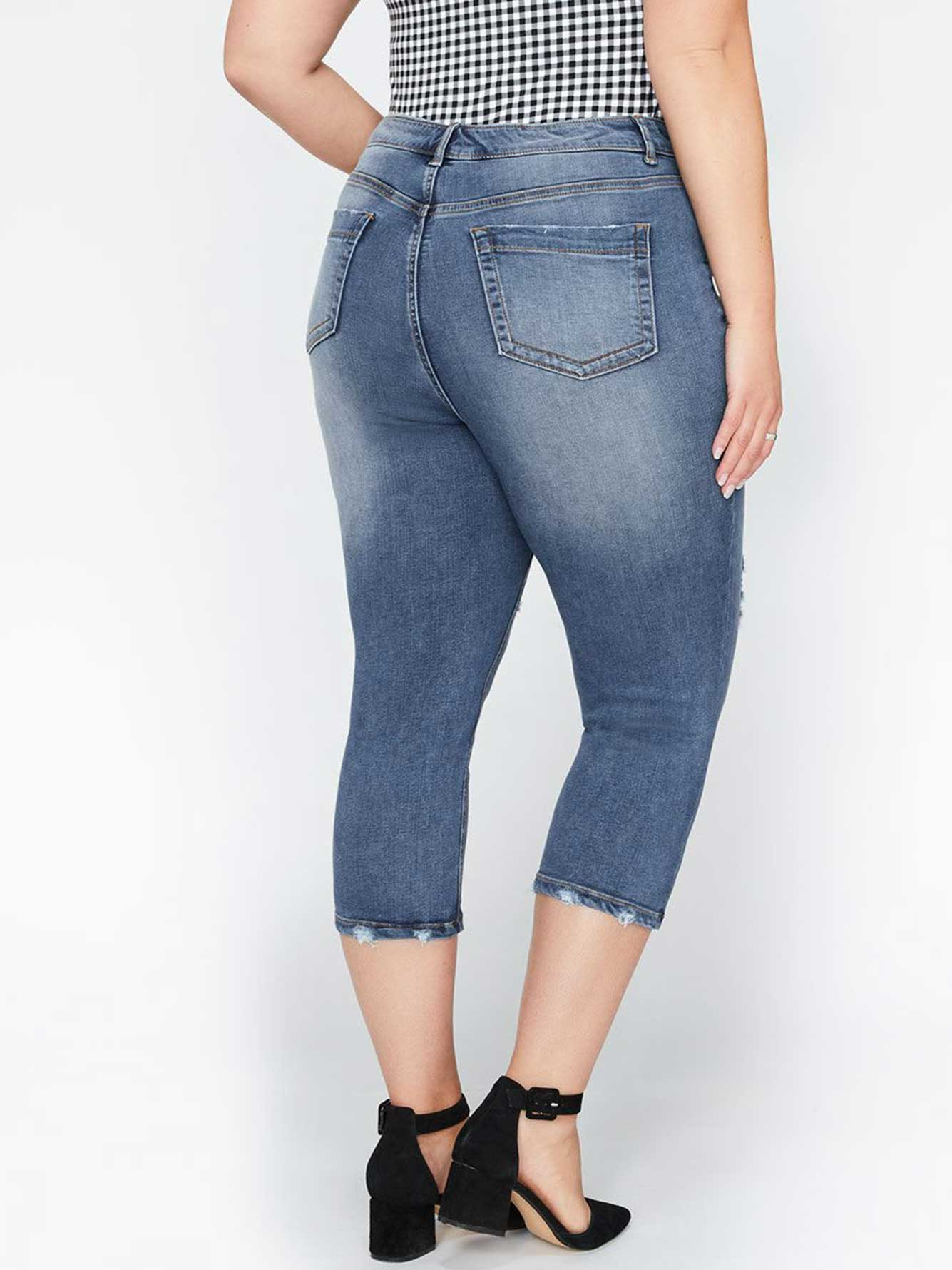 a9eb679c4c813 L&L Super Soft Cropped Jegging with Ripped Details | Addition Elle