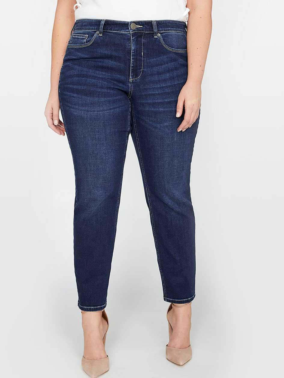 L&L Super Sculpt Slim Leg Jean, Shaped Fit, Petite