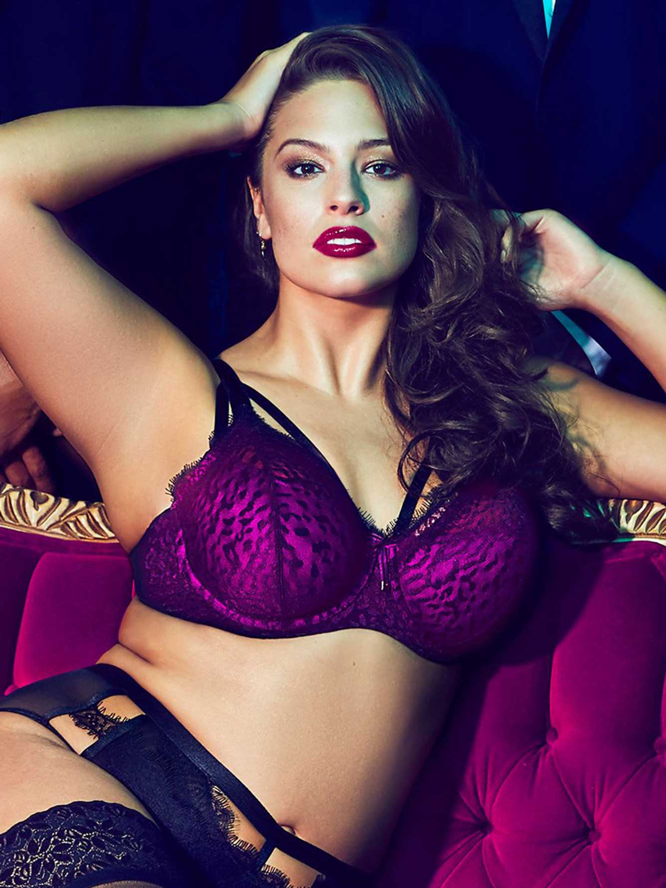3e472465299 Ashley Graham Diva Demi Cup Bra with Straps