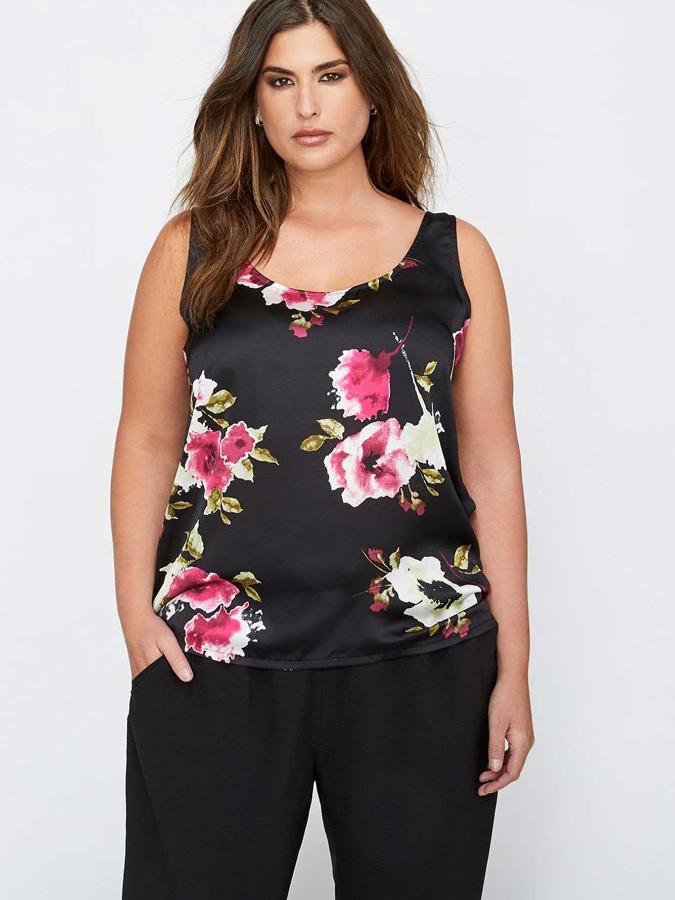 2a2520841b4 Michel Studio Floral Print Sleeveless Top | Addition Elle